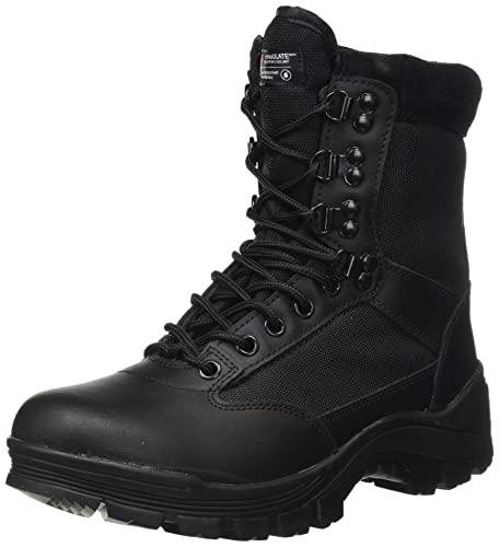 Mil-Tec Tactical Side Zip Stivali Nero Taglia 8 UK / 9 US