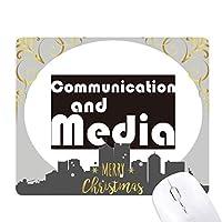 主要な通信とメディア・ブラック クリスマスイブのゴムマウスパッド