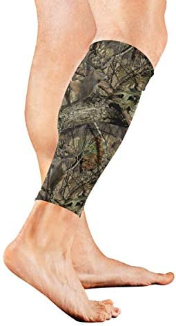 CHLBOJ Leg Sleeve Tree Camo Deer Compression Socks Support Non Slip Calf Sleeves Pads for Running product image