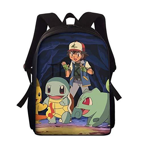 Süße Cartoon-Pokemon-Schultasche, japanischer Schulrucksack für Kinder, modische Schüler, Büchertasche, Infantil Schooltas Rugtas, Orange (Orange) - 9559856487172
