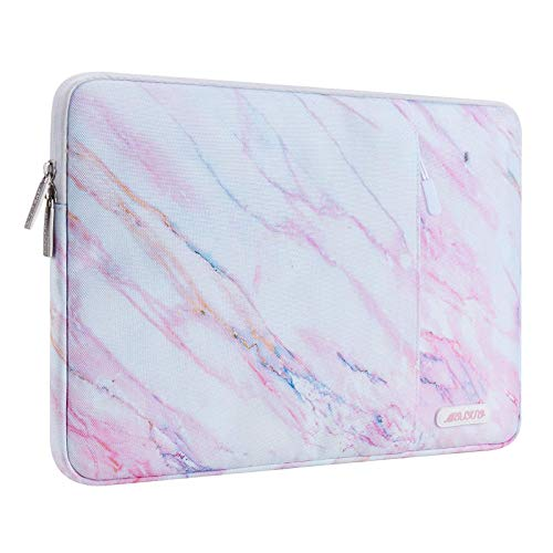MOSISO Laptop Sleeve Compatible with 13-13.3 inch MacBook Pro, MacBook Air, Notebook Computer, Polyester Vertical Cross Grain Marble Bag with Pocket