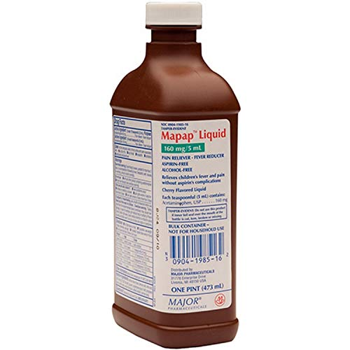 Mapap Liquid Pain Reliever Fever Reducer, Cherry Flavored, One Pint