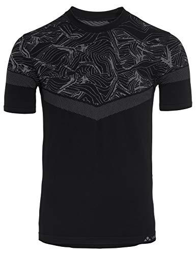 VAUDE Men's LesSeam Shirt Maillot Confortable pour Le Cyclisme Homme, Black, FR : 2XL (Taille Fabricant : XXL/XXXL)