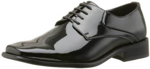 Zengara Men's Z30028 Oxford Tuxedo Shoes,9.5 2E US,Black