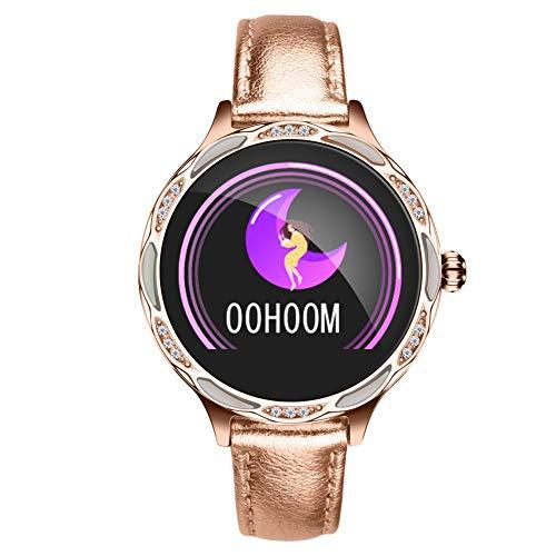 ZDY Smart Watch M9, Smartwatch con Bluetooth IP68 a Prueba de Agua para el período de Las Mujeres, rastreador de Actividad física con podómetro de Ritmo cardíaco y sueño, Pulsera para Android e iOS.