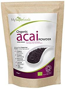 MySuperFoods Acai Orgánico en Polvo 100g, Fuente Natural de Antioxidantes