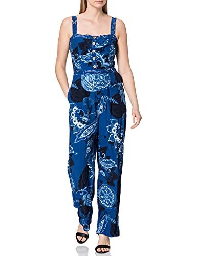 Desigual Pant_Patricia Pantalones Informales, Azul, M para Mujer