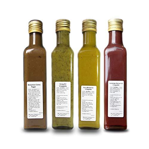 Wiedemer Vinaigretten - Senf Sauce - Salatsauce - Senfvinaigrette   4er Set, 4 x 250 ml