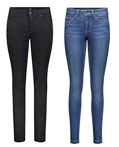 MAC Dream Skinny - 2er Pack Damen Jeans in Verschiedene Farbvarianten, Größe18:W42/L30, Farbe:D999+D569