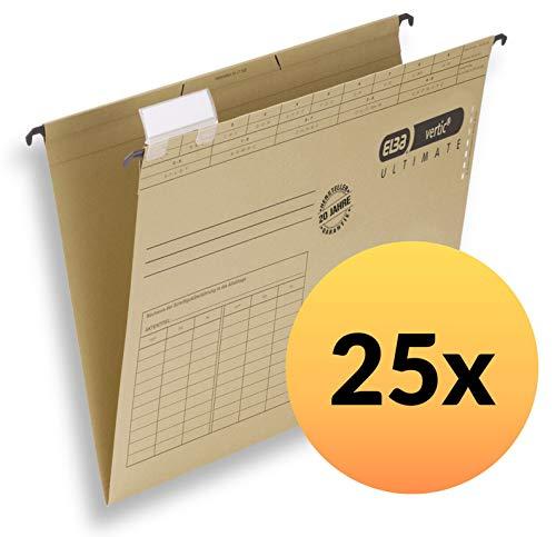ELBA 100331249 Hängemappe vertic ULTIMATE 25er Pack aus Recycling-Karton für DIN A4 seitlich offen braun Blauer Engel ideal für die lose Blatt-Ablage im Büro und der Behörde