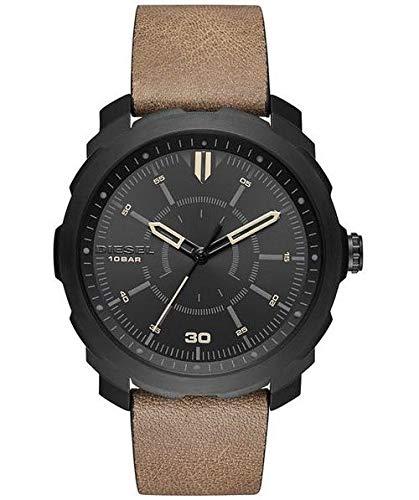 Diesel Reloj Analógico para Hombre de Cuarzo con Correa en Cuero 4053858753600