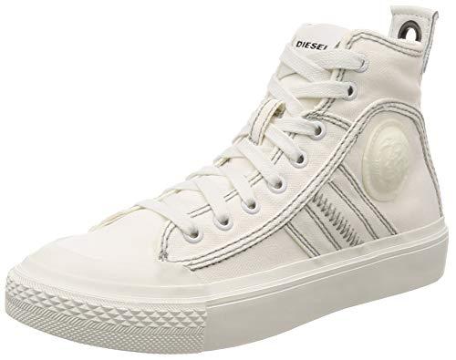 Diesel Damen S-astico Mid Lace Hohe Sneaker, Weiß (Star White T1015-Pr012), 37 EU