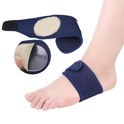 CareUToo Entrenamiento militar Running Sports Foot Pad Vendaje de silicona Foot Arch Pad Fabric Absorbe el sudor Azul 1 par