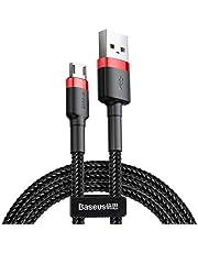 Baseus Cafule Micro Kablo, 2.4A, 1m, Kırmızı, Siyah - CAMKLF-B91