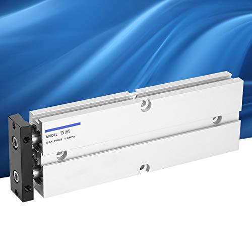 Emoshayoga Componentes neumáticos de aleación de Aluminio TN16 Cilindro de Aire neumático de Doble Efecto para Control automático Industrial(TN16X30-S)