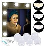 Anpro Luci Da Specchio - Kit Luci per Specchio Stile Hollywood per Trucco 6 Lampadine LED ...