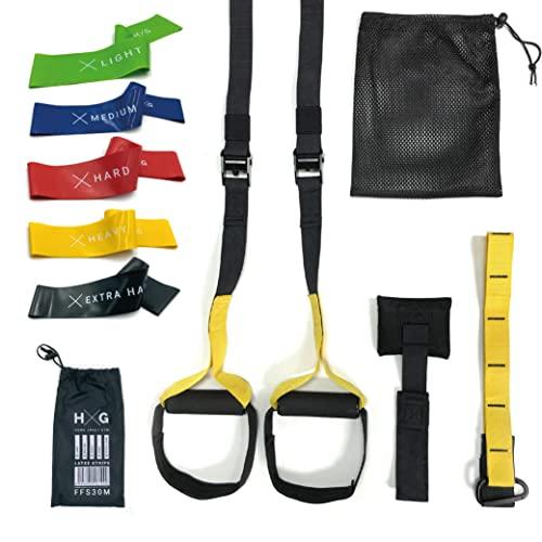 JOWY Entrenamiento Suspension Trainer o Training con Correas Ajustables de...