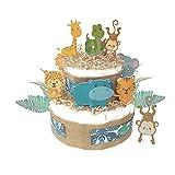 Tarta de pañales jungla| Pañales Dodot | Regalos recién nacidos | Regalos...