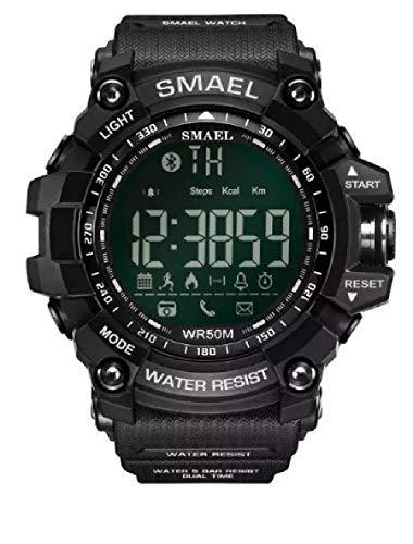 Relógio masculino Smartwatch militar Smael 1617b Bluetooth Android Ios