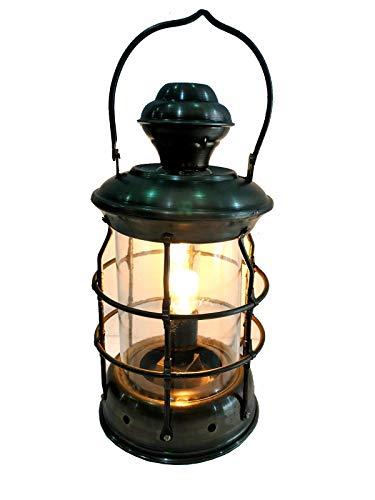 Antik Messing Laterne Elektrische Lampe Dekorative Hängelaterne Marine Schiff Lampe Dekor