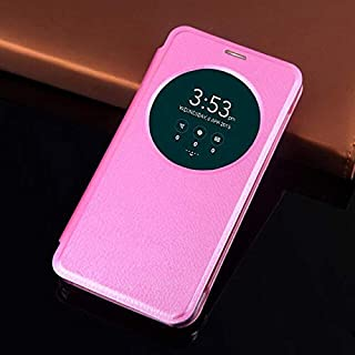 Flip Cases - Flip Cover Smart View Leather Phone Case For Zenfone 3 ZE520KL ZE552KL ZE 520KL 552KL 520 552 KL (Pink zenfon...