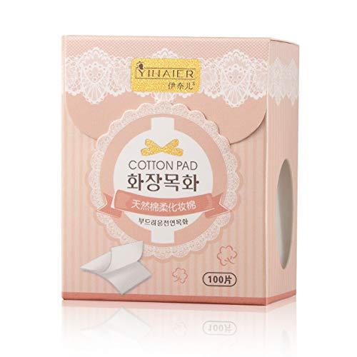Timetided 100 unids/caja almohadillas de algodón natural para mujeres limpieza Facial maquillaje Puff cosméticos removedores de maquillaje toallitas lavado de cara almohadillas de algodón