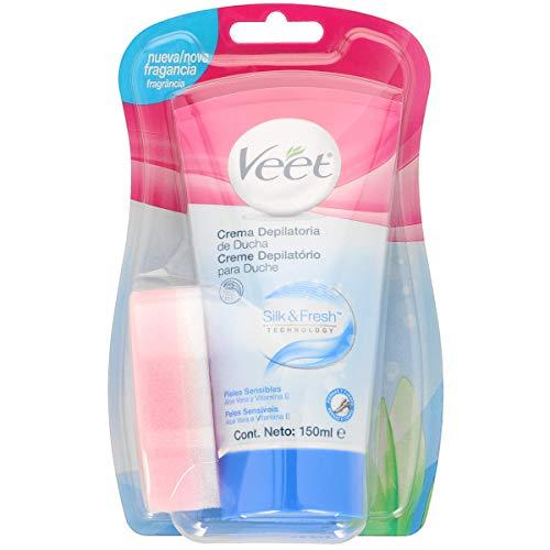 Veet Enthaarungscreme unter der Dusche, empfindliche Haut