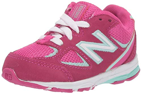 New Balance Girls' 888v2 Running Shoe, CARNIVAL/LIGHT REEF, 2 M US Infant