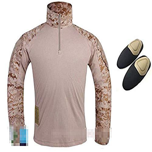 tactique militaire de l'armée de l'homme Paramilitaire Gen3 G3 Combat Chemise à manches longues avec Coudières pour airsoft Paintball Sandstorm Camo Large Sandstorm Camo