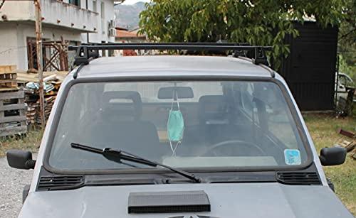 Barre da tetto Panda 141 dal 1986 al 2003 portatutto portapacchi portabagagli per vecchia Panda portata max 50 Kg adatte per vecchia Panda Modello 141 750 - 1000 - 4x4 - Country Club - Young 510236666