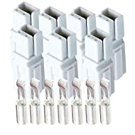 30 Amp Anderson Powerpole Connectors, PP15 to 45, White, w/12-16 AWG Heavy Duty Contact 30A, 600V (Pack of 7)