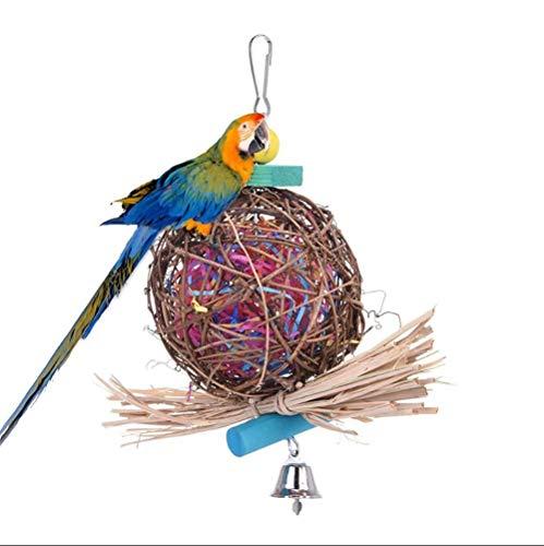 Benrise vogel kauwspeelgoed natuurlijke rotan bal komen met papier papegaai rotan bal beet speelgoed tekenen speelgoed vogel speelgoed klimmen ladder klimmen ladder