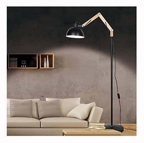 DFJU Lámparas de pie y antorchas Sala de Estar Dormitorio Lámpara de pie Estudio Moderno Piano Luz, Luz de Lectura, Luz de pie, Negro