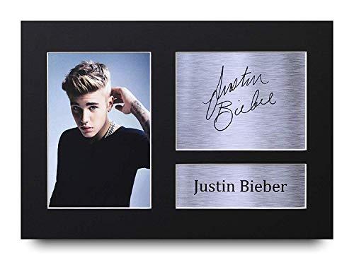 HWC Trading Justin Bieber A4 Ungerahmt Signiert Gedruckt Autogramme Bild Druck-Fotoanzeige Geschenk Für Musik-Fans