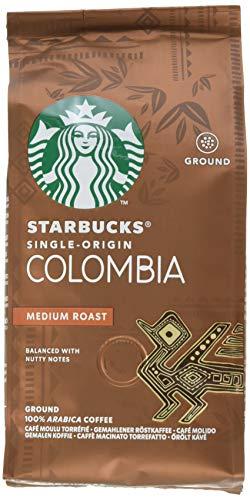 STARBUCKS Single-Origin Colombia Medium Roast Filterkaffee, Röstkaffee gemahlen, Mittlere Röstung, (6 x 200g)