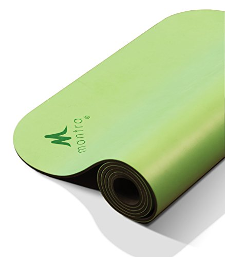 Mantra Style Luxe Pro 28 Yoga Workout Mat (28 X 76 X 6.5mm, Green) Long, X-Wide Non-Slip, Cushioned Support for Exercise, Workouts, Stretching Pilates - Thick, Lightweight, with Strap