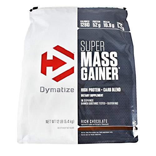Dymatize Super Mass Gainer, Rich Chocolate, 12 Pound