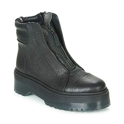 BRONX RIFKA SUPER CHUNKY Enkellaarzen/Low boots dames Zwart Laarzen