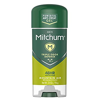 Mitchum Antiperspirant Deodorant Stick for Men, Triple Odor Defense Gel, 48 Hr Protection, Dermatologist Tested, Mountain Air, 3.4 oz
