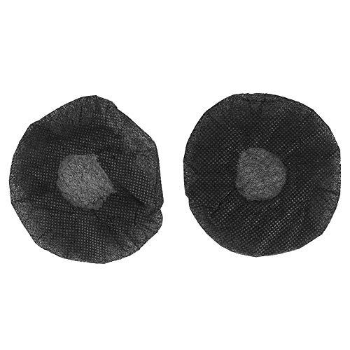 Cubierta de micrófono, 100 Piezas de Cubiertas de micrófono no Tejidas Que se Usan una Sola Vez con Bandas elásticas Reduce el Polvo Prolonga la Vida útil de la mayoría(Negro)