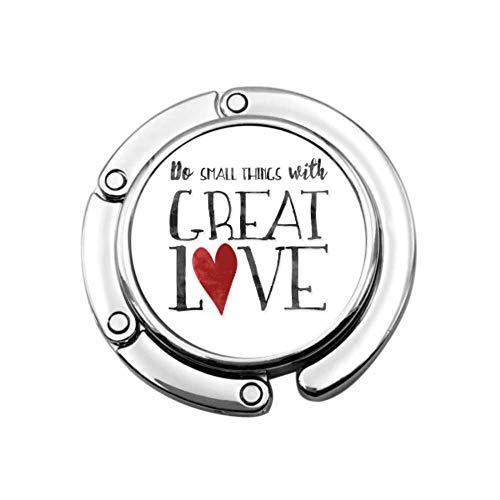 Perchero inspirador para pequeñas cosas Great Love Great Love para perchas de escritorio Diseños únicos Sección plegable Almacenamiento Bolso plegable Percha de mesa