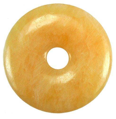 Lebensquelle Plus Orangencalcit/Aragonit Edelstein Donut Ø 40 mm Anhänger
