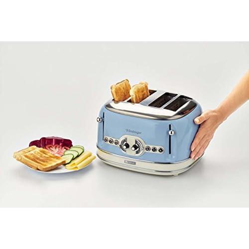 Ariete 4 Slice Vintage Toaster - Duck Egg Blue