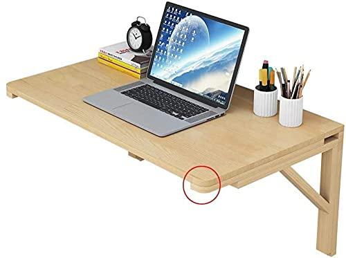 Mesa de madera montada en la pared Mesa plegable Mesa de apartamento Pequeño Mesa de apartamento Oficina plegable Escritorio de computadora Invisible Estudio Escritorio para niños Pintura simple-