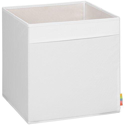 Storanda) Aufbewahrungsbox MIO - Extra Stabile MDF Ausführung - Faltbox - Korb - 33x33x33 cm - (Weiß)