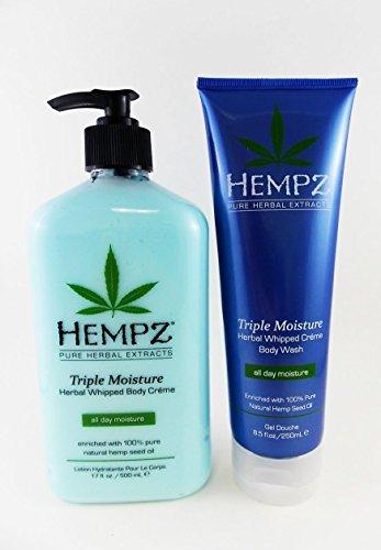 Hempz Triple Moisture Body Lotion & Bath Wash Gift Set - 2 pc.