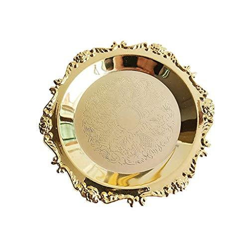 GYDSSH Bandeja de Oro de la joyería, diseño Creativo, Estable y Duradera, Noble y de Lujo, Que se Utiliza for Poner la joyería
