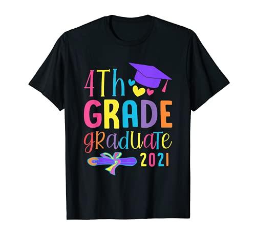Clase De 2021 Divertido Graduado 4Th Grado Camiseta