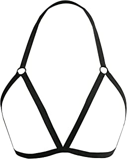 Women's Sexy Bra Cross Style Straps Lingerie Hollow Cage Harness Elastic Bra Strappy Bra Bustier Beach Bra Elastic Band Ba...