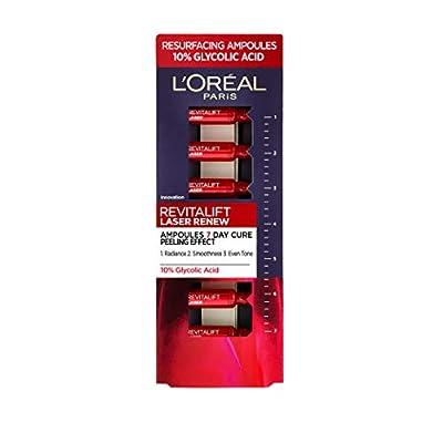 L'Oreal Paris Glycolic Acid Peel Revitalift Laser Renew, Peeling 10 Percent Glycolic Acid Serum Ampoules, 7 x 1 ml from Loreal